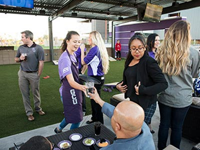 Drinks being served at the GCU Homecoming Kick Off Party